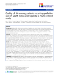 """báo cáo khoa học:"""" Quality of life among patients receiving palliative care in South Africa and Uganda: a multi-centred study"""""""