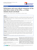 """báo cáo khoa học:""""  Performance and cross-cultural comparison of the short-form version of the CPQ11-14 in New Zealand, Brunei and Brazil"""""""