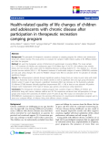 "báo cáo khoa học:"" Health-related quality of life changes of children and adolescents with chronic disease after participation in therapeutic recreation camping program"""