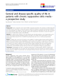 "báo cáo khoa học:"" General and disease-specific quality of life in patients with chronic suppurative otitis media a prospective study"""