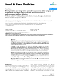 """báo cáo khoa học:""""  Perioperative and long-term operative outcomes after surgery for trigeminal neuralgia: microvascular decompression vs percutaneous balloon ablation"""""""
