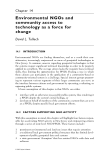 Community Participation and Geographic Information Systems - Chapter 14