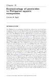 Pesticide Residues in Coastal Tropical Ecosystems: Distribution, fate and effects - Chapter 10