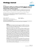 """Báo cáo khoa học: """"Comparative analysis of complete nucleotide sequence of porcine reproductive and respiratory syndrome virus (PRRSV) isolates in Thailand (US and EU genotypes)"""""""