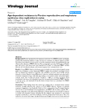 """Báo cáo khoa học: """" Age-dependent resistance to Porcine reproductive and respiratory syndrome virus replication in swine"""""""