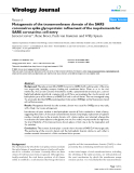 "Báo cáo y học: ""Mutagenesis of the transmembrane domain of the SARS coronavirus spike glycoprotein: refinement of the requirements for SARS coronavirus cell entry"""