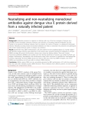 """Báo cáo khoa học: """"Neutralizing and non-neutralizing monoclonal antibodies against dengue virus E protein derived from a naturally infected patient"""""""