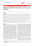"Báo cáo khoa học: ""Antibody dependent enhancement of frog virus 3 infection"""