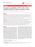 """Báo cáo khoa học: """"Increased susceptibility of Huh7 cells to HCV replication does not require mutations in RIG-I"""""""