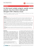 """Báo cáo y học: """"An M2e-based multiple antigenic peptide vaccine protects mice from lethal challenge with divergent H5N1 influenza viruses"""""""