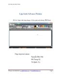 Lập trình Advance Painter- Đề tài: Lập trình ứng dụng vẽ đơn giản mô phỏng MS Paint