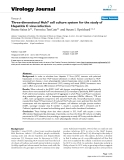 """Báo cáo khoa học: """"Three-dimensional Huh7 cell culture system for the study of Hepatitis C virus infection"""""""