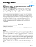 """Báo cáo khoa học: """"Experimental evidence indicating that mastreviruses probably did not co-diverge with their hosts"""""""