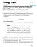 "Báo cáo khoa học: "" Characterization of culture-positive adenovirus serotypes from respiratory specimens in Toronto, Ontario, Canada: September 2007–June 2008"""
