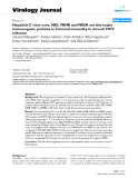 "Báo cáo y học: ""Hepatitis C virus core, NS3, NS4B and NS5A are the major immunogenic proteins in humoral immunity in chronic HCV infection"""