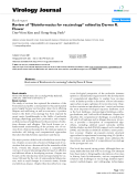 "Báo cáo khoa học: "" Review of ""Bioinformatics for vaccinology"" edited by Darren R. Flower"""