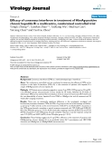 """Báo cáo khoa học: """"Efficacy of consensus interferon in treatment of HbeAg-positive chronic hepatitis B: a multicentre, randomized controlled trial"""""""