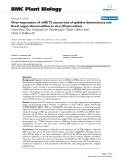 """báo cáo khoa học: """" Over-expression of miR172 causes loss of spikelet determinacy and floral organ abnormalities in rice (Oryza sativa)"""""""
