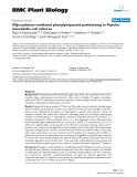 """báo cáo khoa học: """"  Glycosylation-mediated phenylpropanoid partitioning in Populus tremuloides cell cultures"""""""