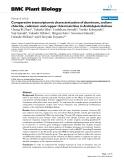 "báo cáo khoa học: ""  Comparative transcriptomic characterization of aluminum, sodium chloride, cadmium and copper rhizotoxicities in Arabidopsis thaliana"""