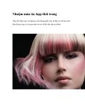 Nhuộm màu tóc hợp thời trang