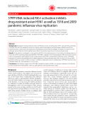 "Báo cáo y học: ""5'PPP-RNA induced RIG-I activation inhibits drug-resistant avian H5N1 as well as 1918 and 2009 pandemic influenza virus replication"""