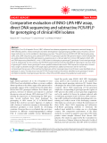 """Báo cáo y học: """" Comparative evaluation of INNO-LiPA HBV assay, direct DNA sequencing and subtractive PCR-RFLP for genotyping of clinical HBV isolates"""""""
