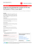 """Báo cáo y học: """"Diagnosis and phylogenetic analysis of Orf virus from goats in China: a case report"""""""