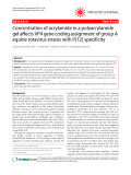 """Báo cáo y học: """"Concentration of acrylamide in a polyacrylamide gel affects VP4 gene coding assignment of group A equine rotavirus strains with P[12] specificity"""""""