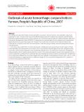 "Báo cáo y học: "" Outbreak of acute hemorrhagic conjunctivitis in Yunnan, People's Republic of China, 2007"""