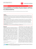 "Báo cáo y học: ""Susceptibilities of medaka (Oryzias latipes) cell lines to a betanodavirus"""