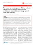 """Báo cáo y học: """" The use of genomic signature distance between bacteriophages and their hosts displays evolutionary relationships and phage growth cycle determination"""""""