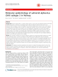 "Báo cáo y học: ""   Molecular epidemiology of salmonid alphavirus (SAV) subtype 3 in Norway"""