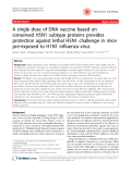 "Báo cáo y học: ""  A single dose of DNA vaccine based on conserved H5N1 subtype proteins provides protection against lethal H5N1 challenge in mice pre-exposed to H1N1 influenza virus"""