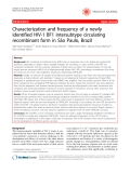 """Báo cáo y học: """"  Characterization and frequency of a newly identified HIV-1 BF1 intersubtype circulating recombinant form in São Paulo, Brazil"""""""