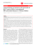 """Báo cáo y học: """" Characterization of variants in the promoter of BZLF1 gene of EBV in nonmalignant EBV-associated diseases in Chinese children"""""""