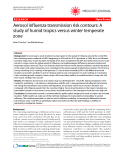 """Báo cáo y học: """"Aerosol influenza transmission risk contours: A study of humid tropics versus winter temperate zone"""""""