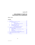 Environmental Risk Assessment Reports - Chapter 19