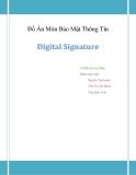 Đồ Án Môn Bảo Mật Thông Tin Digital Signature