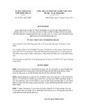 Quyết định số 30/2011/QĐ-UBND