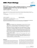 "báo cáo khoa học: ""  The metal tolerance profile of Thlaspi goesingense is mimicked in Arabidopsis thaliana heterologously expressing serine acetyl-transferase"""