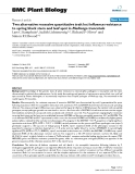 "báo cáo khoa học: ""  Two alternative recessive quantitative trait loci influence resistance to spring black stem and leaf spot in Medicago truncatula"""