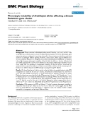 """báo cáo khoa học: """"  Phenotypic instability of Arabidopsis alleles affecting a disease Resistance gene cluster"""""""