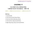 Chương 11: Vai trò của chính phủ-chính sách tài khoá tiền tệ