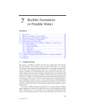 Microbiological Aspects of BIOFILMS and DRINKING WATER - Chapter 7