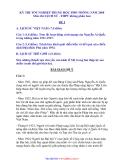 THI TỐT NGHIỆP TRUNG HỌC PHỔ THÔNG NĂM 2008 Môn thi: LỊCH SỬ - THPT không phân ban