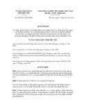 Quyết định số 1658/2011/QĐ-UBND