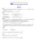 Đề ôn thi đại học môn toán