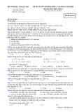 Đề ôn thi môn hóa-2