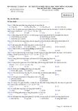Đề thi tốt nghiệp THTP môn Hóa học - Không phân ban